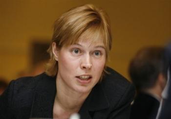 یک زن رئیس جمهور استونی شد+عکس