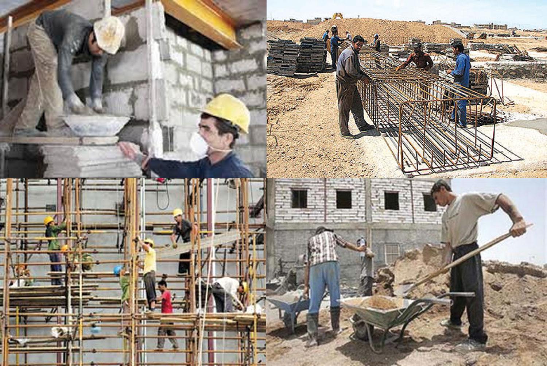 حتی یک کارگر ساختمانی جدید هم بیمه نشده است