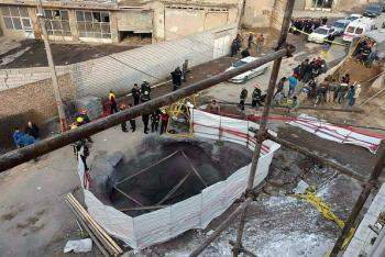 مرگ سه کارگر در اثر ریزش تونل در تبریز