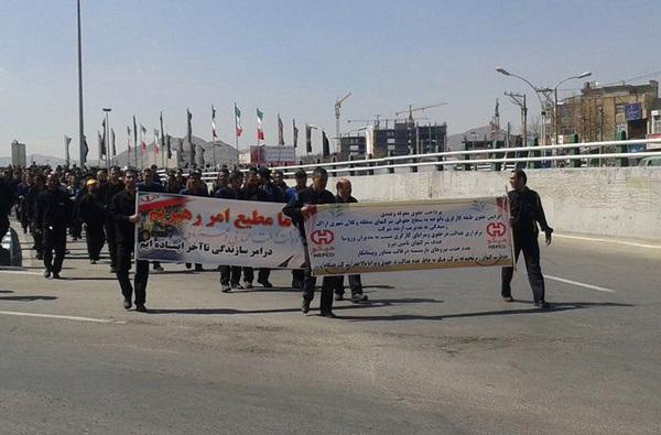 اعتراض کارگران هپکو وارد ششمین روز شد