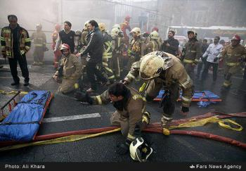 فوری/شهادت ۳۰ نفر از قهرمانان آتشنشانی در پلاسکو
