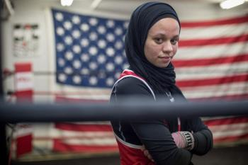 دختری که آرزوی شرکت در مسابقات مشت زنی المپیک را دارد +عکس