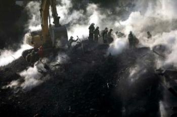 کشف استخوانهای سوخته از اجساد 6 مفقود حادثه پلاسکو