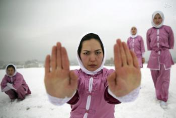 عکس/ مدرسه شائولین دختران افغان