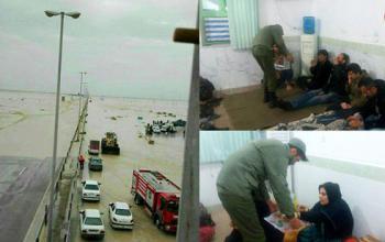 سیل بوشهر و حمله مارهای سمی به این شهر+عکس