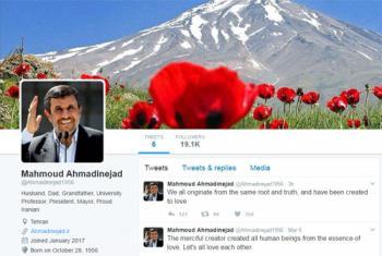 چه کسانی توئیتر احمدی نژاد را فالو کرده اند؟