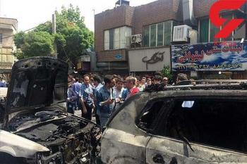 اتومبیل بازیگر معروف ایرانی در آتش سوزی خیابان شریعتی سوخت + تصاویر