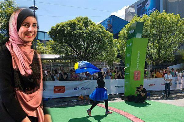 اولین زن با حجاب در تاریخ ماراتن بلگراد +عکس