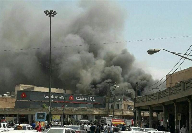 کارخانه ایرانخودروی تبریز دچار آتشسوزی شد