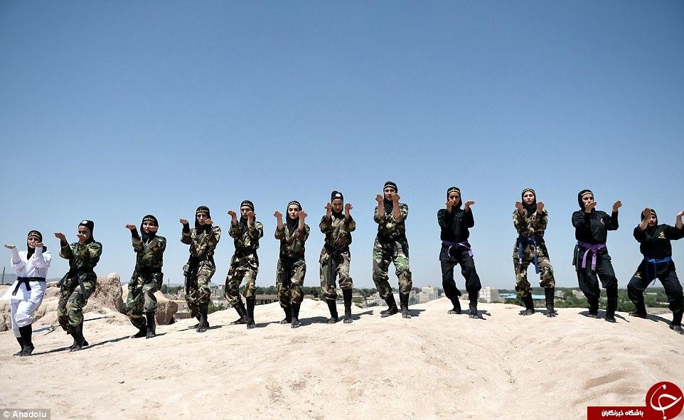 گزارش رسانه انگلیسی از زنان نینجاکار ایرانی+ تصاویر