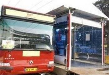 یک اتوبوس شرکت واحد زیر پل پارکوی آتش گرفت