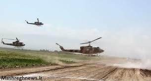 حمله بالگردهای ارتش به آتش!