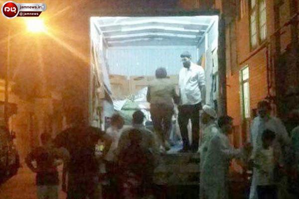 وسیله امدادی عجیب برای انتقال زن ۳۰۰ کیلویی قمی به بیمارستان!!!+ عکس