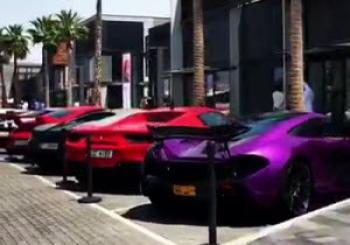 فستیوال خودروهای لاکچری در دبی +فیلم
