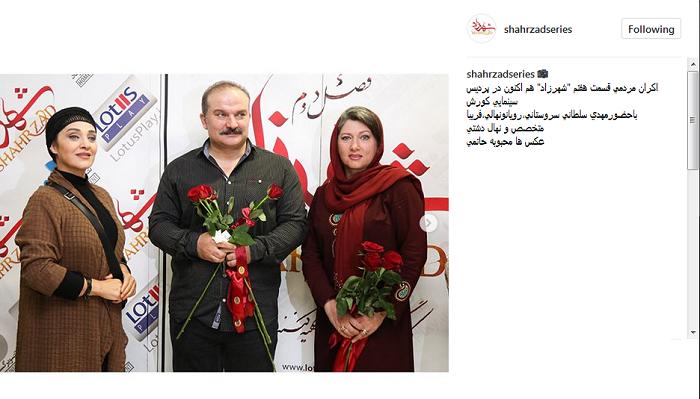 بازیگر زن معروف بدون روسری در اکران مردمی سریال شهرزاد!!+عکس