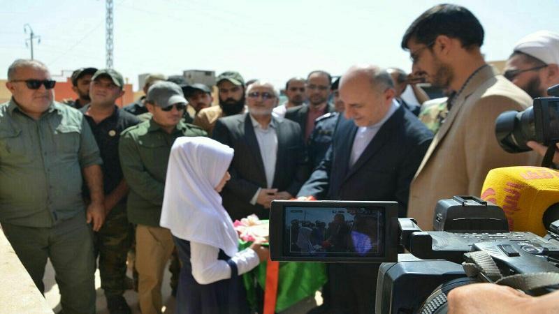 افتتاح مدرسه امام خمینی (ره ) و درمانگاه امام رضا (ع) در نینوای عراق