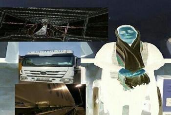 دختر جوانی که در کامیون ترانزیت قصد ورود به ایران را داشت+عکس