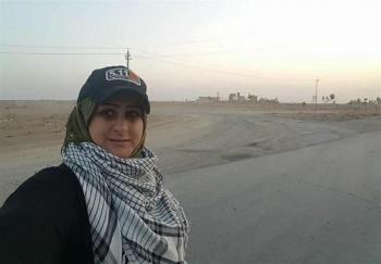 """لحظه شهادت خبرنگار زن """"حشد الشعبی"""" +عکس"""