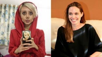 دختر ایرانی بخاطر شبیه شدن به آنجلینا جولی شبیه عروس مرده شد! +عکس