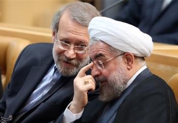 """""""لاریجانی"""" مانع سؤال مجلس از """"روحانی"""" است"""