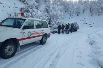 امدادرسانی به ۵۶ هزار نفر گرفتار در برف