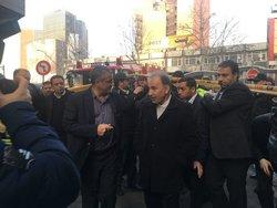 احتمال ریزش ساختمان آتش گرفته وزارت نیرو +تصاویر