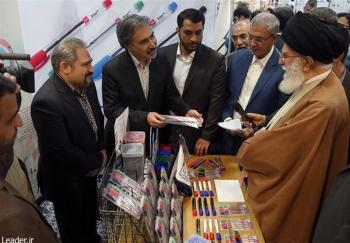 بازدید ۲.۵ساعته رهبری از نمایشگاه کالای ایرانی