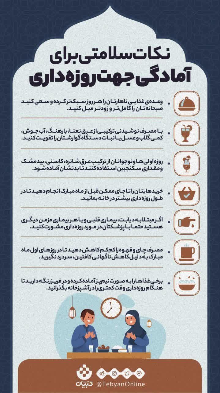 اینفو/راههای روزه داری سالم و ساده