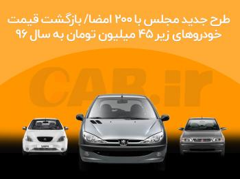 بازگشت قیمت خودروها به قیمت سال ۹۶