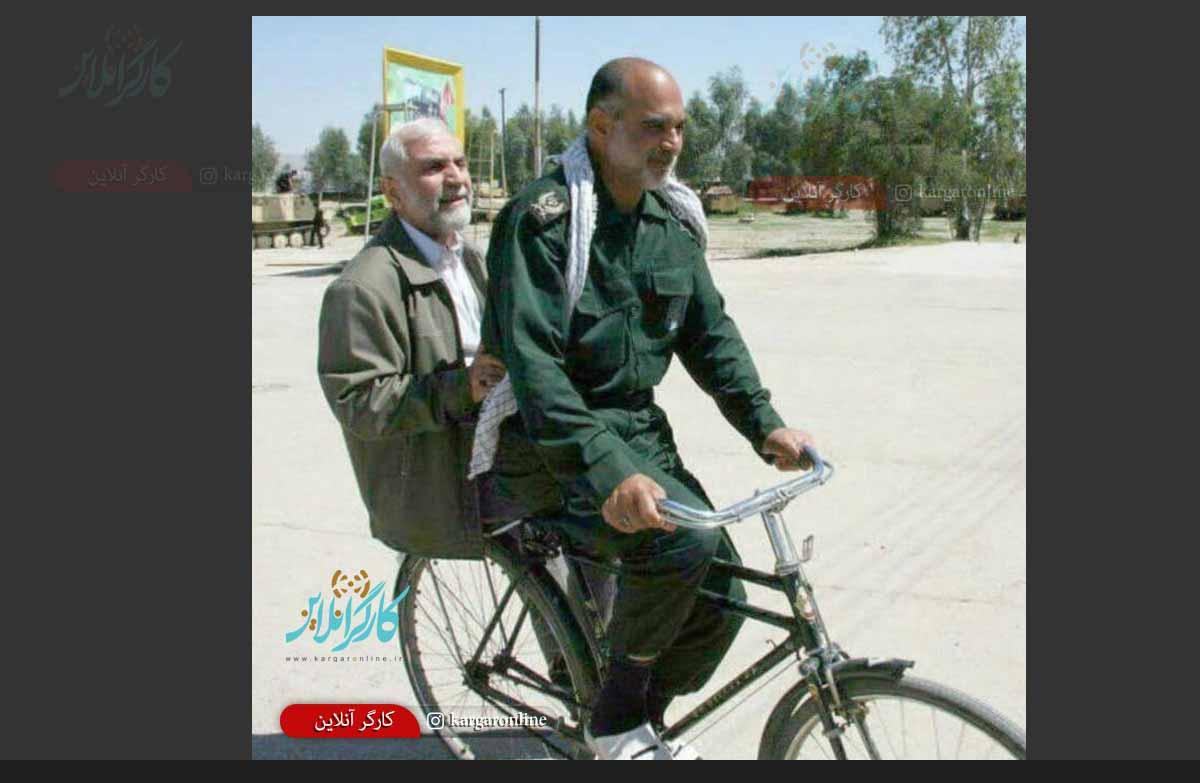 سردار شهید سپاه در سواری لاکچری+عکس