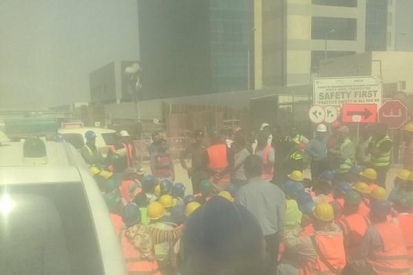 پلیس عربستان به تجمع کارگران معترض تیراندازی کرد