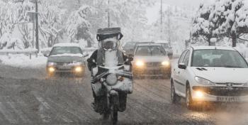 ترافیک در تهران آغاز شد/تگرگ شدید ادامه دارد