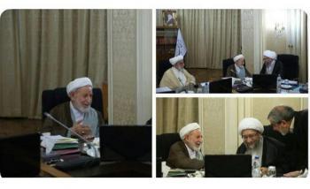 عکس/دیدار آیت الله یزدی و آملی لاریجانی پس از مشاجره