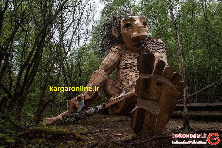 بالاخره تصویر غولهای عظیمالجثه در جنگل های دانمارک دیده و ثبت شد+عکس