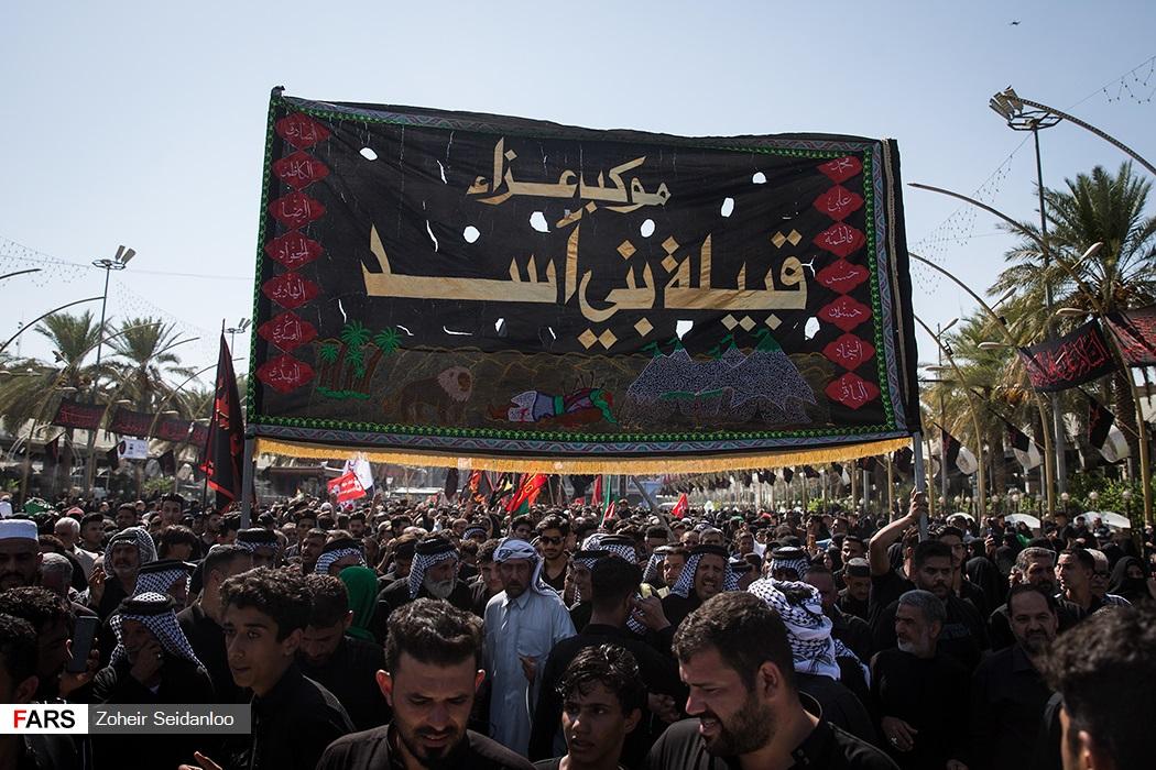 عکس/عزاداری قوم تاریخی بنی اسد در کربلا
