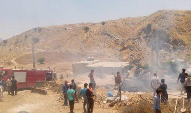 دختر 5 ساله در آتش انبار سوخت +عکس