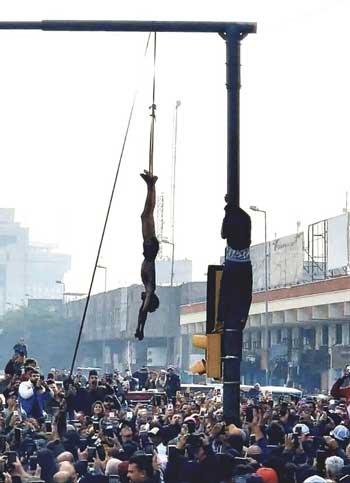 عکس/ واکنش ارتش عراق به اعدام خیابانیِ یک نوجوان