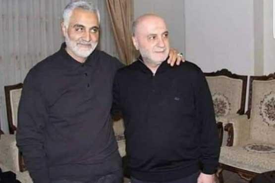 آخرین عکس از سردار شهید سلیمانی در بیروت