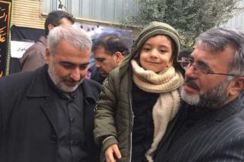 فرزند شهید حججی در منزل سپهبد شهید سلیمانی +عکس