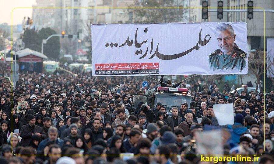 عکس/علمدار نیامد/شکوه میلیونی مردم تهران در تشییع آسمانی حاج قاسم سلیمانی