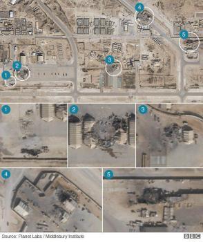عکس/تصاویر بیبیسی از تخریب پایگاه آمریکا در حمله سپاه