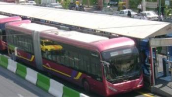 تصادف خونین اتوبوس بیآرتی با عابر پیاده در خط ویژه