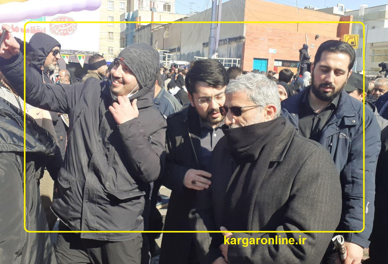 حضور جانشین خلف سپهبد شهید حاج قاسم سلیمانی در راهیپمایی 22 بهمن