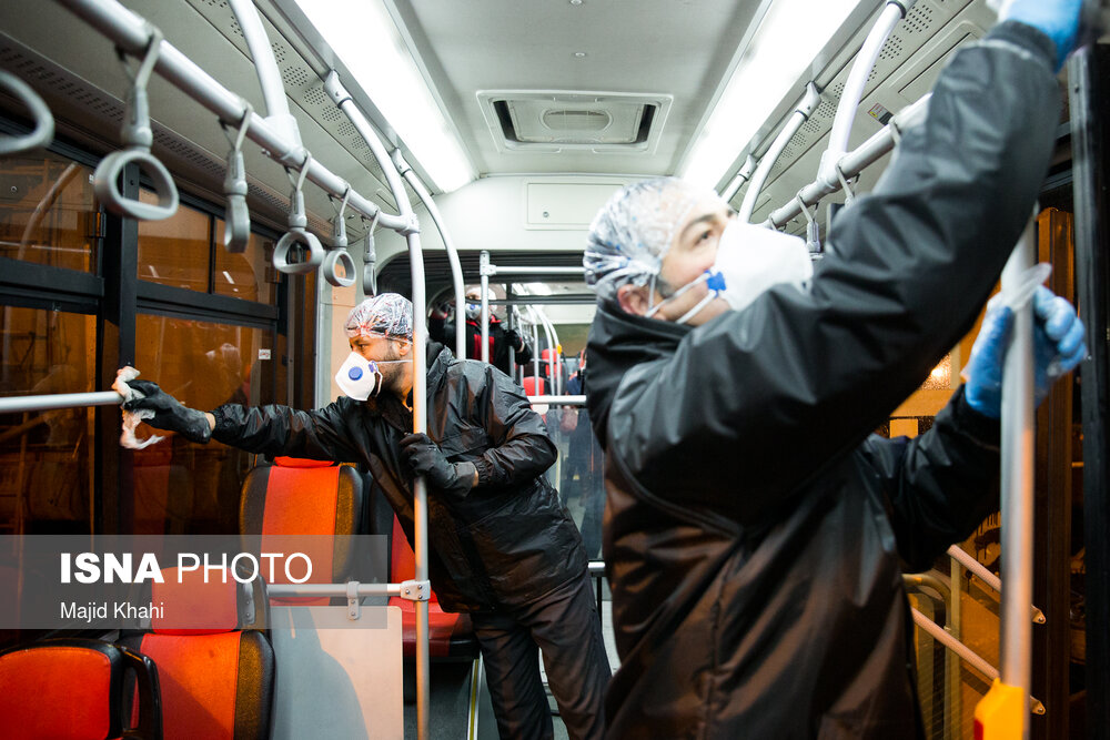 BRT در برابر کرونا ضدعفونی شد+عکس