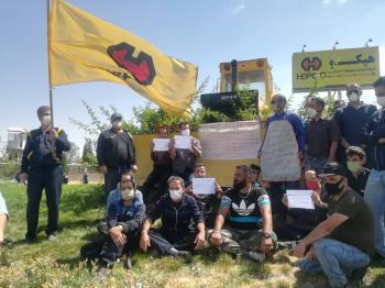 دومین روز اعتراض کارگران هپکوی اراک