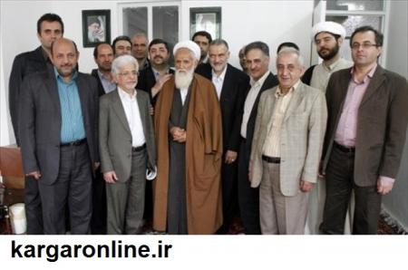 مرحوم آیت الله حائری شیرازی ره در جمع اعضای نظام مهندسی ساختمان+عکس