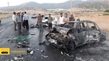 قاچاق سوخت با سمند حادثه آفرید / ۴ نفر در شعلههای آتش سوختند
