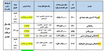 پیش فروش ایران خودرو ویژه مهرماه اعلام شد + جدول