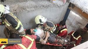 ریزش سازه فلزی در کرج سه نفر را راهی بیمارستان کرد